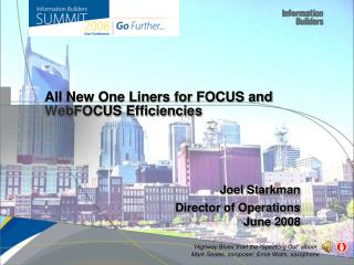 All New One Liners for FOCUS and  WebFOCUS  Efficiencies