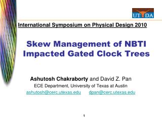 Skew Management of NBTI Impacted Gated Clock Trees