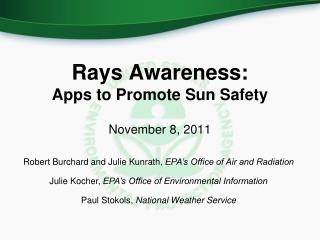 Rays Awareness: Apps to Promote Sun Safety