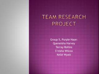 Team research project
