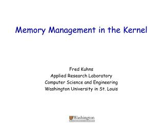 Memory Management in the Kernel