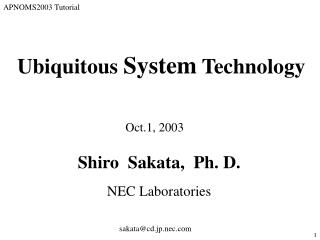 Ubiquitous  System  Technology