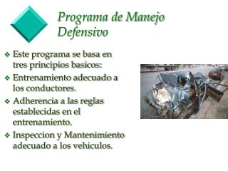 Programa de Manejo Defensivo