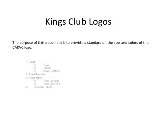 Kings Club Logos