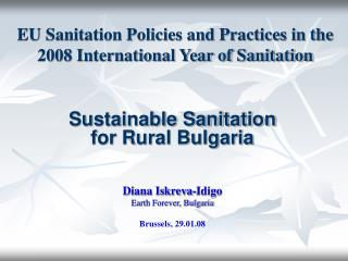 EU Sanitation Policies and Practices in the 2008 International Year of Sanitation