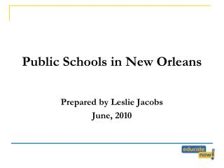 Public Schools in New Orleans