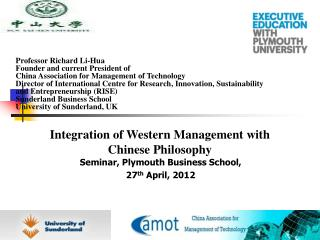 Seminar, Plymouth Business School,  27 th  April, 2012