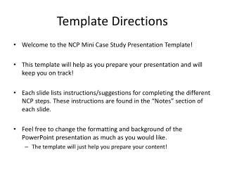 Template Directions