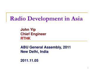 Radio Development in Asia