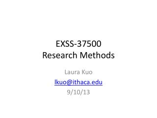 EXSS-37500  Research Methods