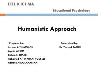TEFL & ICT MA Educational Psychology