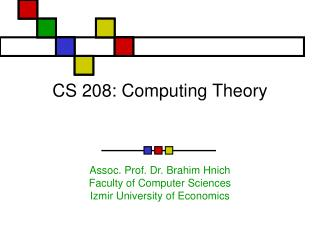 CS 208: Computing Theory