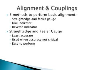 Alignment & Couplings
