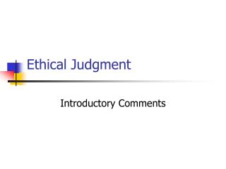 Ethical Judgment