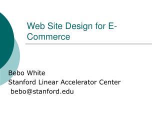 Web Site Design for E-Commerce