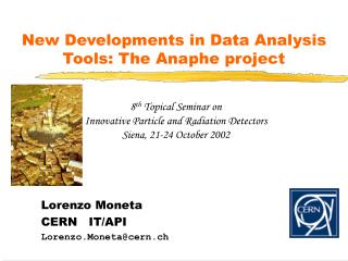 New Developments in Data Analysis Tools: The Anaphe project