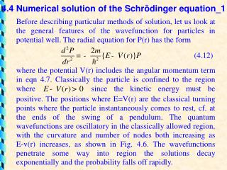 4.4 Numerical solution of the Schr ö dinger equation_1