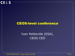 CEOS-level conference