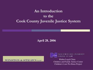 An Introduction  to the  Cook County Juvenile Justice System