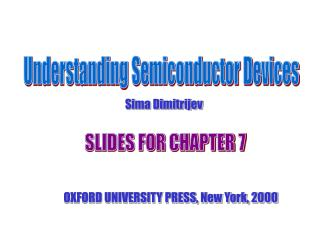 Understanding Semiconductor Devices