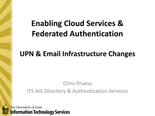 Enabling Cloud Services & Federated Authentication UPN & Email Infrastructure Changes