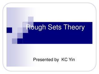 Rough Sets Theory