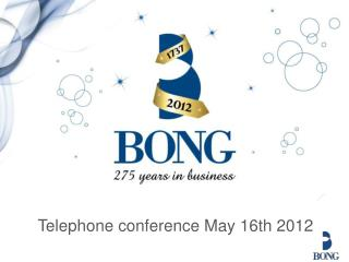 Telephone conference May 16th 2012
