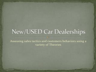 New/USED Car Dealerships