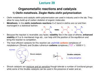 2) Applications of the olefin metathesis