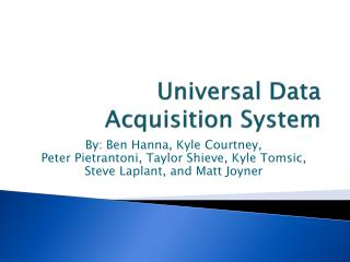 Universal Data Acquisition System