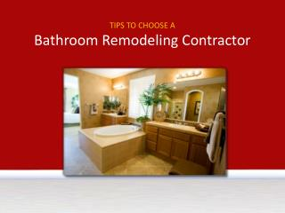 Bathroom Remodeling In Dayton,Ohio-Tips To Choose Contractor