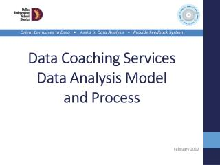 Data Coaching Services Data Analysis Model  and Process