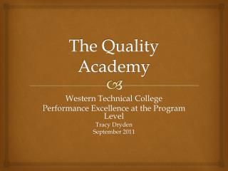 The Quality Academy