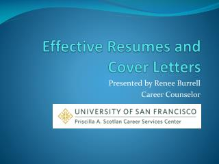Effective Resumes and  Cover Letters