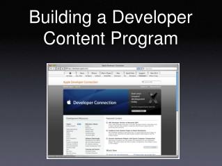 Building a Developer Content Program