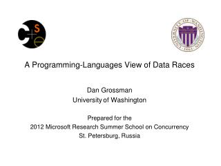 A Programming-Languages View of Data Races