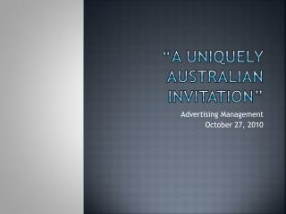 """A Uniquely  australian  invitation"""