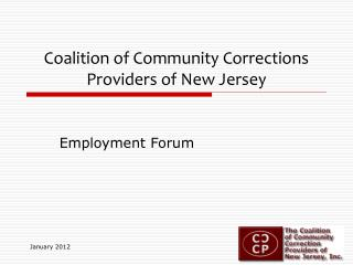 Coalition of Community Corrections Providers of New Jersey