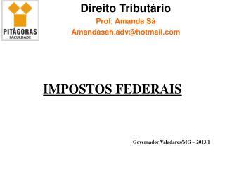 Governador Valadares/MG –  2013.1