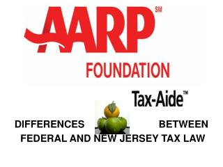 DIFFERENCES                           BETWEEN  FEDERAL AND NEW JERSEY TAX LAW