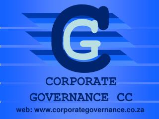 CORPORATE GOVERNANCE CC