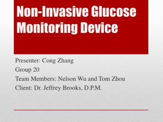 Non-Invasive Glucose Monitoring Device
