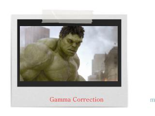 Gamma Correction m.