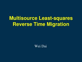 Multisource Least-squares Reverse Time Migration
