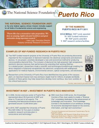 BY THE NUMBERS PUERTO RICO IN FY 2011
