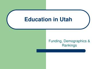Education in Utah