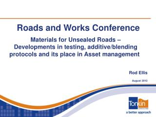 Roads and Works Conference