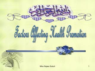 Factors Affecting Health Promotion