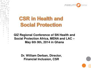 CSR in Health and Social Protection