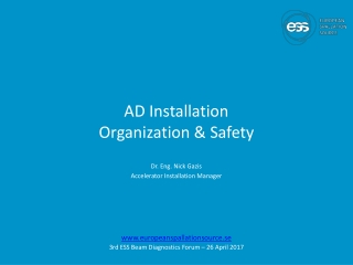 AD Installation Organization & Safety